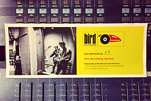 Bird Records gift certificate