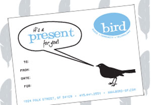 Bird School of Music gift certificates make great gifts!