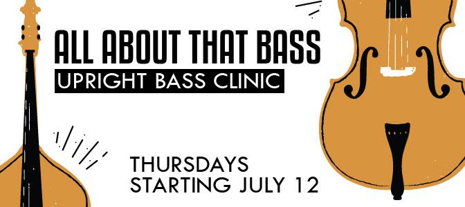 Upright bass clinic at Bird School of Music