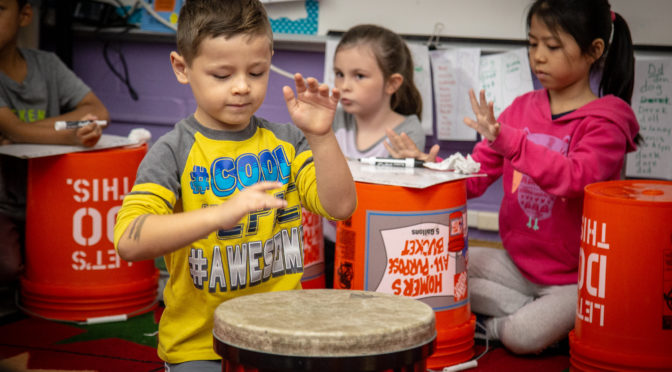 Bucket drumming photo by Phil Roeder