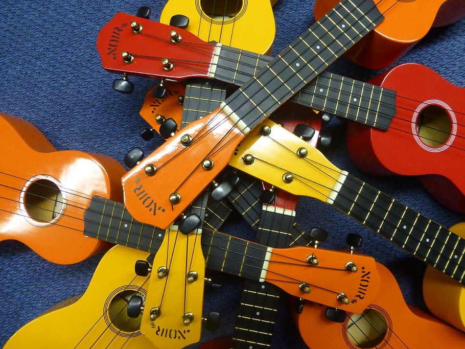Lots of ukuleles